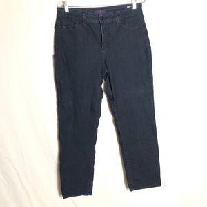 NYDJ straight leg dark wash jeans